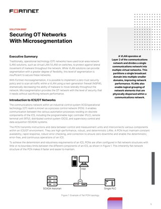 Securing OT Networks with Microsegmentation