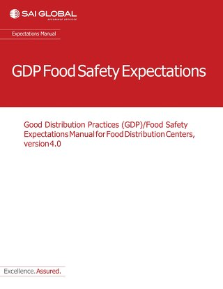 GDP Food Safety Expectations Manual for Food Distribution Centers v4