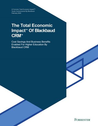 Report: The Total Economic Impact of Blackbaud CRM