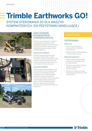 Trimble Earthworks GO! Datasheet - Polish