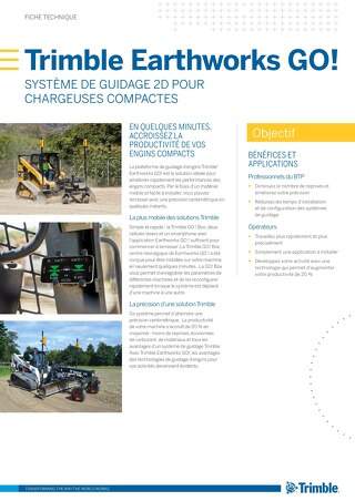 Trimble Earthworks GO! Datasheet - French