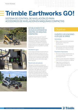 Trimble Earthworks GO! Datasheet - Spanish