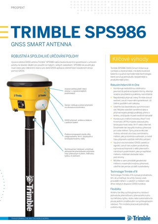 Trimble SPS986 GNSS Smart Antenna Datasheet - Czech