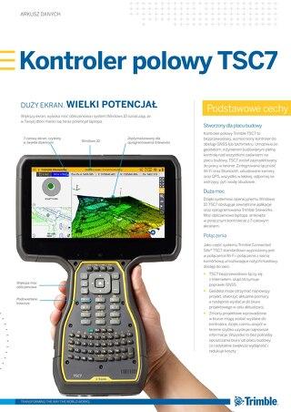 Trimble TSC7 Controller Datasheet - Polish