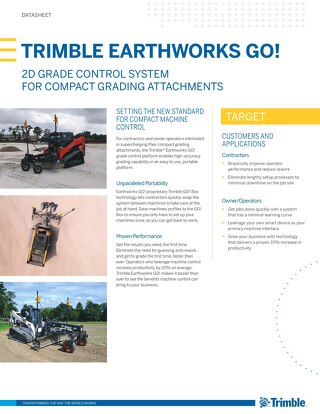 Trimble Earthworks GO! Datasheet - English