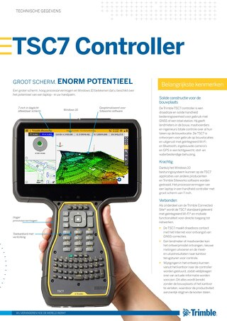 Trimble TSC7 Controller Datasheet - Dutch