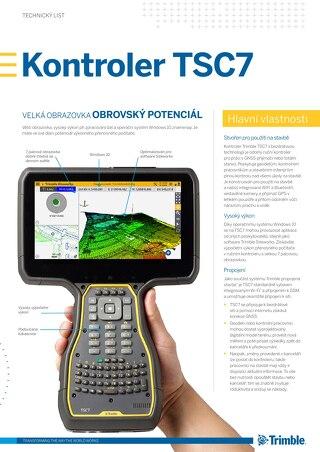 Trimble TSC7 Controller Datasheet - Czech