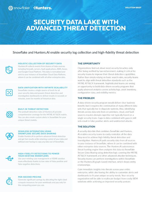 Security Data Lake with Advanced Threat Detection