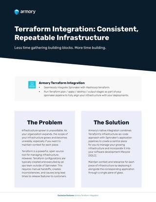Armory Terraform Integration Feature