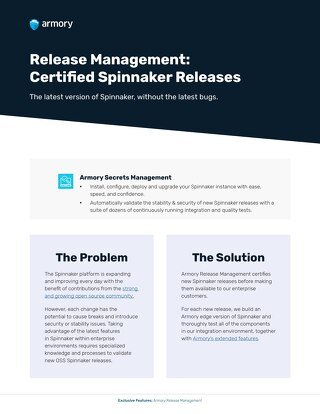 Armory Release Management Feature