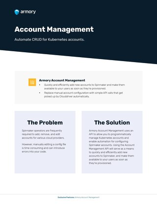 Armory Account Management Feature
