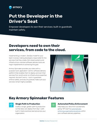 Developer Empowerment with Armory Spinnaker