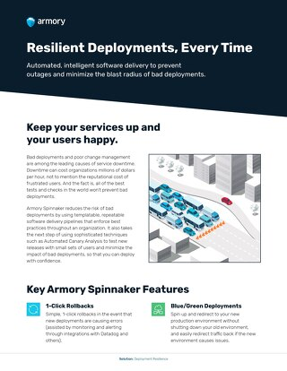 Deployment Resilience with Armory Spinnaker
