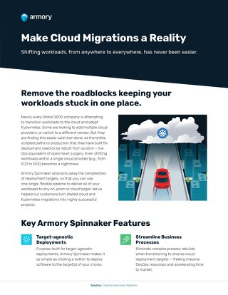 Cloud & Kubernetes Migrations with Armory Spinnaker