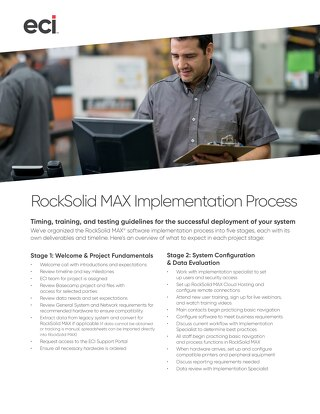 RockSolid MAX Implementation Process