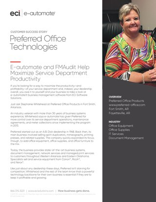 Preferred Office Technologies: Maximizing Service Productivity