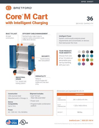 Core M Cart with Intelligent Charging