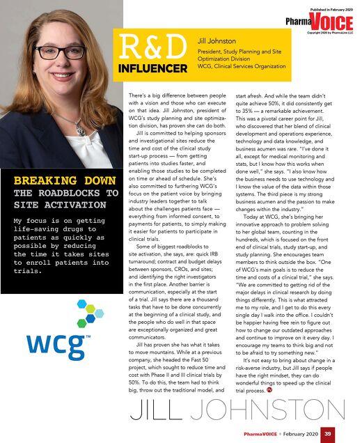 PharmaVOICE R&D Influencer: Jill Johnston