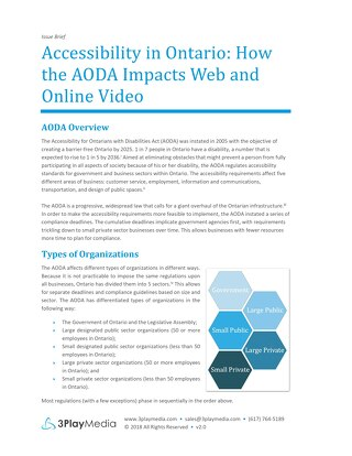 Accessibility in Ontario: How the AODA Impacts Web and Online Video