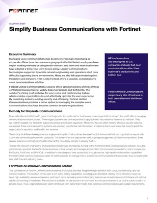 Simplify Business Communications with Fortinet