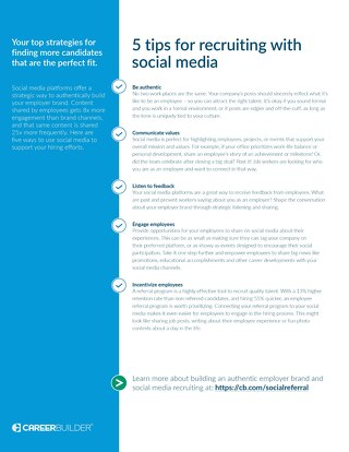 5 tips for recruiting with social media checklist