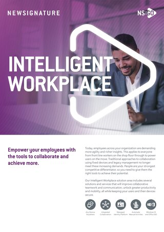 NS:GO Intelligent Workplace Flyer