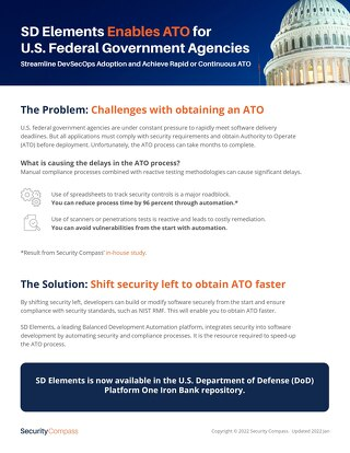 SD Elements Addresses Critical Needs in the Department of Defense