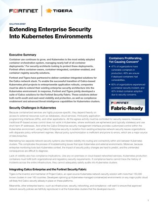 Extending Enterprise Security Into Kubernetes Environments