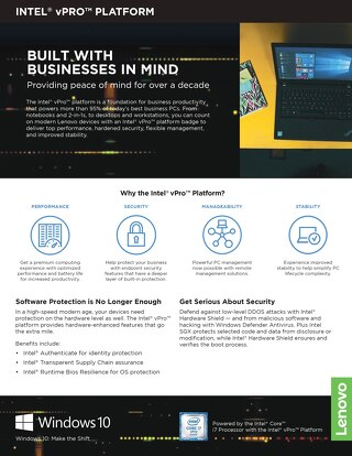 Make the Shift - with Intel® vPro™, Lenovo, and Windows 10