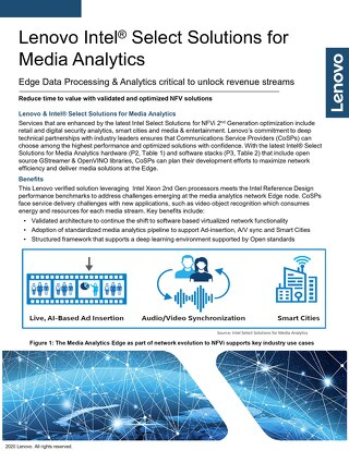 Intel Select Solutions for Media Analytics
