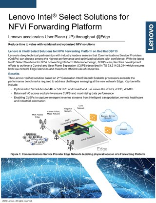 Intel Select Solutions for NFVi Forwarding Platform