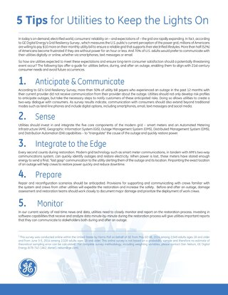 GE Grid Survey : 5 Tips for Utilities