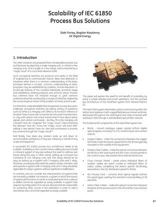 Case Study: Scalability of IEC 61850 Process Bus Solutions