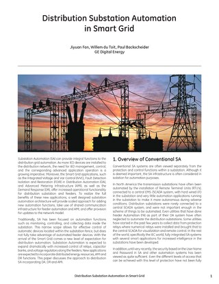 Case study: Distribution Substation Automation in Smart Grid