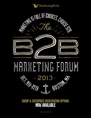 The B2B Marketing Forum 2013