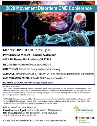 2020 Movement Disorders CME Conference