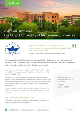 Customer Spotlight: The Lahore University of Management Sciences (LUMS)