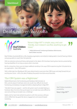 Customer Spotlight: Deaf Children Australia