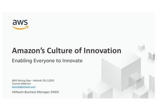 Culture of Innovation - Startup Day Helsinki