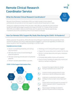 WCG ThreeWire- Remote Clinical Research Coordinator Service