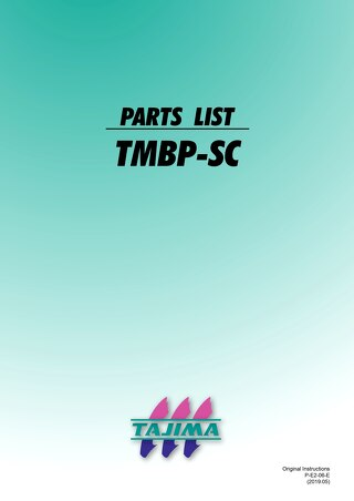 TMBP 2019 parts list (exploded view)