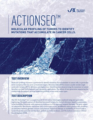 ActionSeq: Molecular Profiling of Tumors to Identify Mutations that Accumulate in Cancer Cells