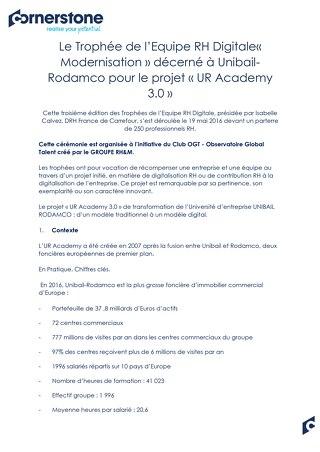 Case Study Unibail Rodamco