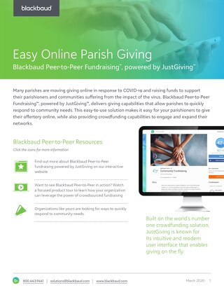 Easy Online Parish Giving