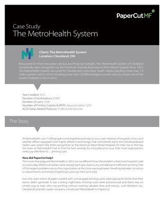 Healthcare Case Study MetroHealth