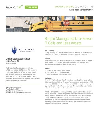 Education Case Study Little Rock School District