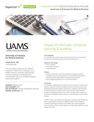 Healthcare Case Study UAMS