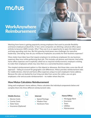 Motus Remote Work Reimbursement