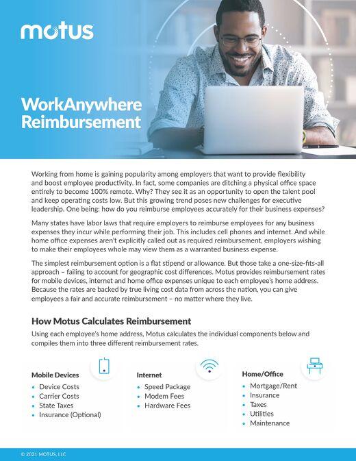Motus Remote Work Reimbursement