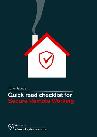 User guide - Quick read checklist for secure remote working